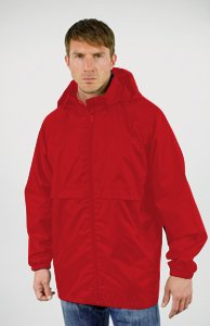 Result Mens Core Lightweight Waterproof Jacket - Small, Red