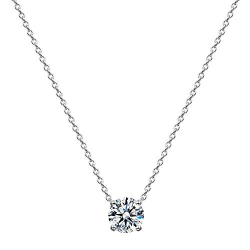 [ジュエリーキャッスル] Jewelry Castle ネックレス 0.5カラット スワロフスキージルコニア シルバー925 プラチナ仕上