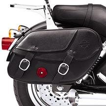 H-D Leather Saddlebags for Dyna Models 90369-06c