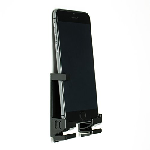 Dockem 20003-BL Damage-Free Wall Mount & Dock for Smartphone and Tablet, Black