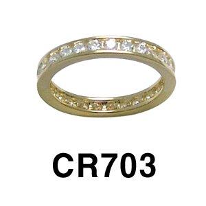 14k Yellow Gold Cubic Zirconia Eternity Ring