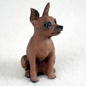 Amazon.com: Miniature Pinscher Red And Brown Dog Figurine, Height