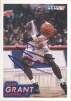 Gary Grant Los Angeles Clippers 1994 Fleer Autographed Hand Signed Trading Card. by Hall of Fame Memorabilia