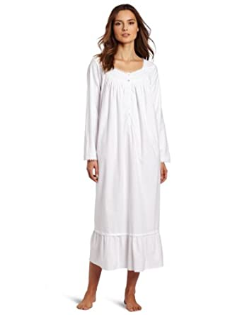 Eileen West Women's Frosted Beauty Ballet Nightgown, White, Large