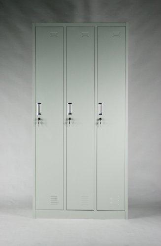 スチールロッカー キャビネット 3人用■10-014