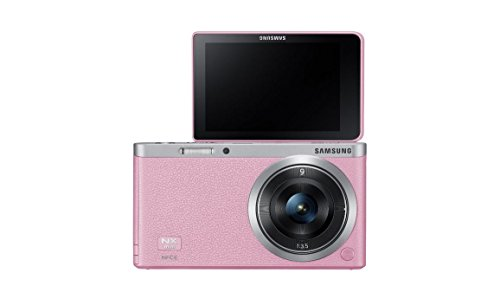 "Samsung Nx Mini 20.5Mp Cmos Smart Wifi & Nfc Compact Interchangeable Lens Digital Camera With 9Mm Lens And 3"" Flip Up Lcd Touch Screen (Pink)"