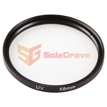 Uv Filter+Snap-On Lens Cap+Flower Lens Hood For 58Mm Canon Eos 40D 50D 450D 60D