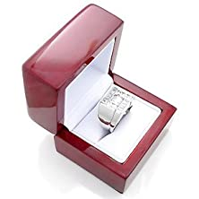 buy Luxurious Cherry Wooden Leather Ring Gift Box