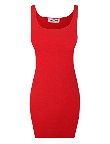 Tom's Ware Women Classic Slim Fit Tank Bodycon Mini Tee Dress TWCWD068