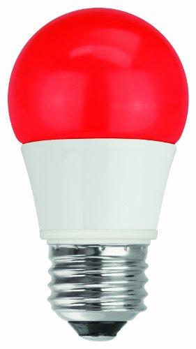 Tcp Rlas155Wrd Led A15 - 40 Watt Equivalent (5W) Red Colored Light Bulb