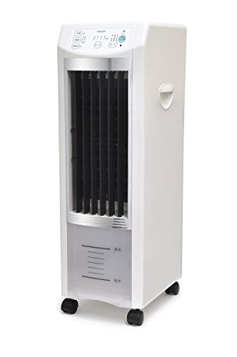 iimono117 タワー型 冷風扇 VS-DCF67 ホワイト×シルバー / リモコン 保冷剤パック付き 3段階切替 冷風扇風機 冷風機 扇風機 マイナスイオン 冷風 涼風 自然風 首振り