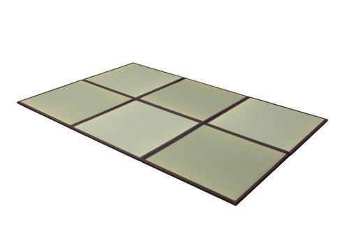 純国産 ユニット畳 6枚組 『あぐら』 ブラウン 82×82×1.7cm 軽量タイプ