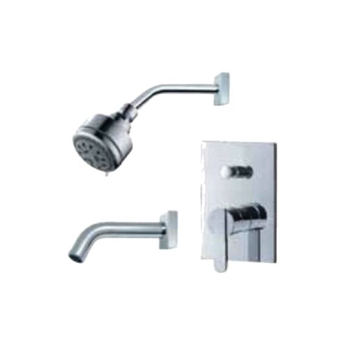 Fluid Faucets F2820BN-T Wisdom Pressure Balancing Bathtub and Shower Faucet, Brushed Nickel, 1-Pack