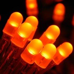 String Lights, 100 Mini Leds, Plug In, Multi Function, Orange
