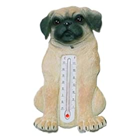 Pug Dog Indoor Outdoor Thermometer