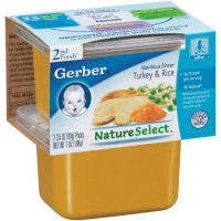 Gerber 2nd Foods Nature Select Turkey & Rice, 3.5 OZ (Case of 8) (015000073282)