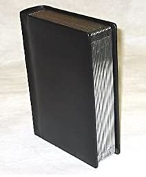 Professional 5x7 Black Silver edged Slip-in Wedding/Parent Photo Album holds 60 photos