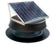 Solar Attic Fan 24-watt - Black - with 25-year warranty - Florida Rated (Solar Fan Roof compare prices)
