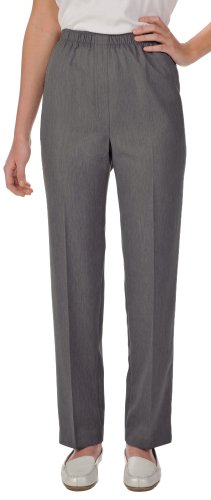 Alia Womens Microfiber Pull On Pants 14 Heather gray (Alia Clothing compare prices)