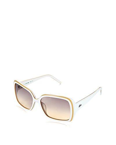 Lacoste Gafas de Sol L623S (56 mm) Blanco / Amarillo