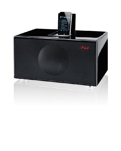 Geneva Sound Model M iPod Dock, Radio Alarm Clock with HiFi Sound Quality - Black