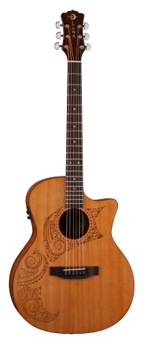 Luna Oracle Series Tattoo Grand Concert Acoustic-Electric Guitar