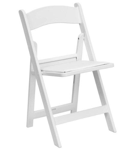 White Resin Folding Chair 1167