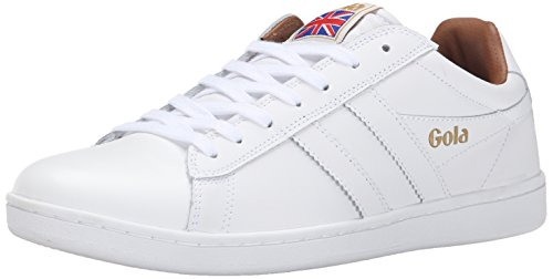 Gola Men's Equipe Mono Fashion Sneaker, White, 8 M US
