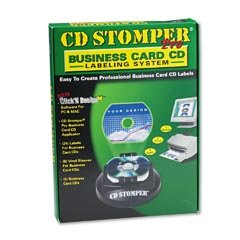 CD Stomper Pro Business Card Labeling 24 Labels 6 Sleeves 6 Cd S