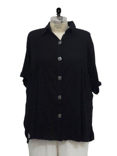 WeBeBop (ChaiLatte) Plus Size Cotton Button Down Barbara Tunic