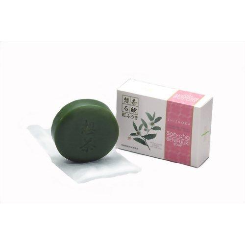 想茶石鹸 紅ふうき 100g