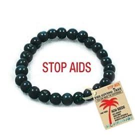 Eliminate AIDS - Protection Acai Seed Black bracelet