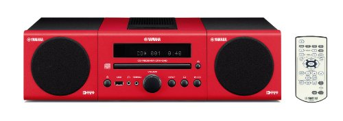 Review and Buying Guide of Cheap Yamaha MCR040RD Red Hi-Fi System includes CD Receiver/Speakers 2 x 15W/USB/iPod Dock/DAB