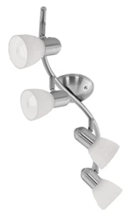 Eglo 88474A Dakar 1 Wall/Ceiling Light, Matte Nickel
