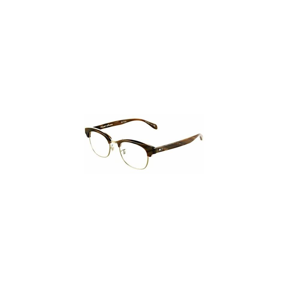 9c4dda2d9030e OLIVER PEOPLES Paul Smith Churchill Col.1036 Ant. Gold Brown Horn on ...