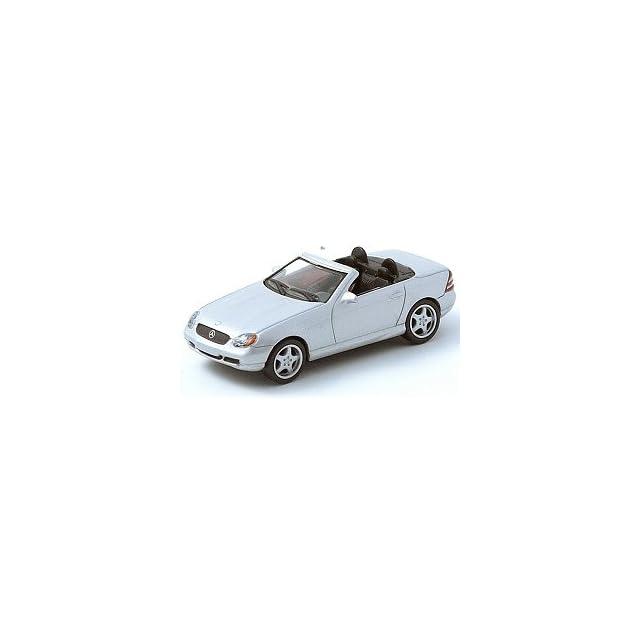 164 Scale Mercedes Benz SLK AMG Roadster Silver Diecast Car Model