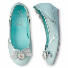 Disney Frozen Elsa Slippers ~ Youth Shoe Size 2/3 ~ Dress up or Pretend Play