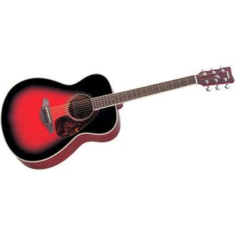 Yamaha FS720S Acoustic Guitar, Dusk Sun Red