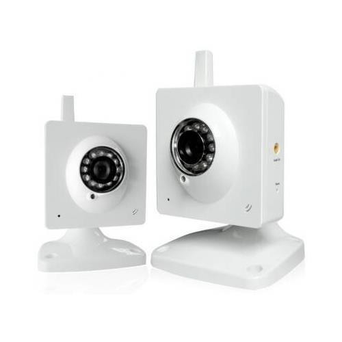 "Zmodo Pki-W2001 Wireless 1/4"" Cmos Ir Indoor Night Vision Ip Network Camera -**2Pcs Ip Camera **"