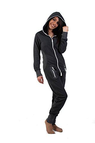 eron-apparel-herren-strampelanzug-kariert-schwarz-dunkelgrau-l
