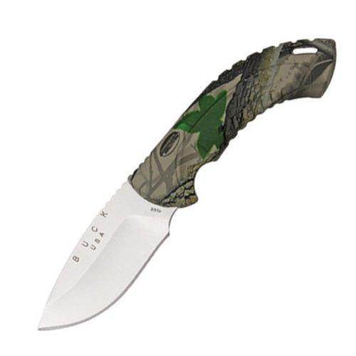 Buck 10 Point Realtree Hardwoods Green Hd Omni Avid Hunter Tm Knife (Camo, 3 1/4-Inch)
