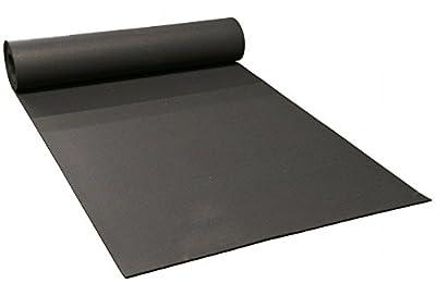 """Patriot Sports Flooring Black Rubber Roll - 4' x 50' x 1/4"""" (200 sq. ft.)"""