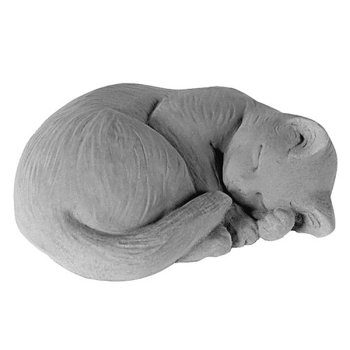 Small Curled Cat - Antique Gray