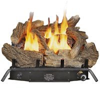 Sale!! Kozy World GLD1850 Fireplace Log Set, Vent-Free,  Dual Fuel, 18 Inch
