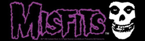 Licenses Products Misfits Logo and Skull Sticker - 1