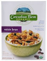Cascadian Farms Organic Raisin Bran Cereal -- 12 Oz