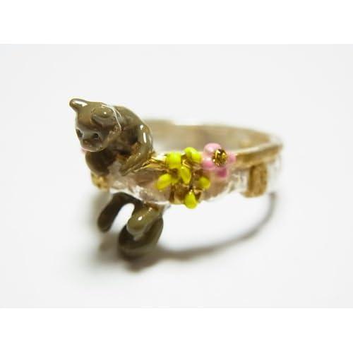 (パルナートポック)Palnart Poc クララ・シンクレア リング シルバーホワイト 猫 ネコ 指輪 アクセサリー ねこ キャット 花 フラワー かわいい(ブラフシューぺリア)Brough Superior