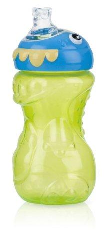 Nuby 3D Monster No Spill Super Spout Gripper Cup, 11 Ounce