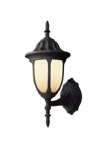 Woodbridge Lighting 60020-BKP 1-Light Outdoor Wall Light, Powder Coat Black