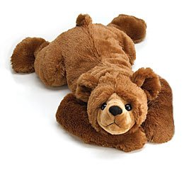 Fuzzy And Comfy 26'' Lying Brown Plush Teddy Bear Adorable Gift